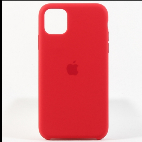 Apple iPhone X Leather Case Red in box